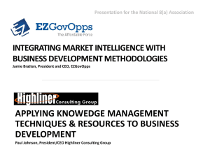 Knowledge Management Techniques: Utilizing Market Intelligence