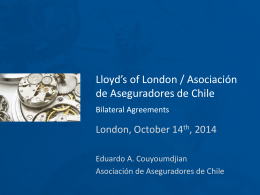 Lloyd*s of London / Asociación de Aseguradores de Chile