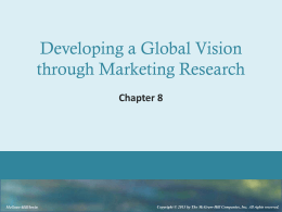 Developing a Global Vision through Marketing Research