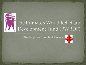 The Primate`s World Relief and Development Fund
