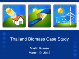 Promoting Renewable Energy in Mae Hong Son