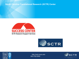 SCTR - Medical University of South Carolina
