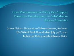 How Macroeconomic Policy Can Support Economic Development in