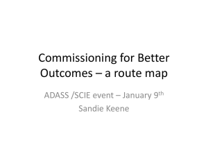 Commissioning for Better Outcomes - Sandie Keene