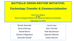 Technology Transfer & Commercialization Task Force Report