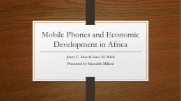 Mobile Phones and Economic Development in Africa