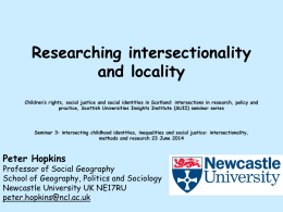 Researching Intersectionality and Locality