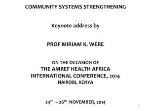 Keynote - Amref Health Africa International Conference