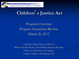 CBCAP Program Overview - National Resource Center for Child