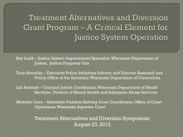 Treatment Alternatives and Diversion Grant Program * A Critical