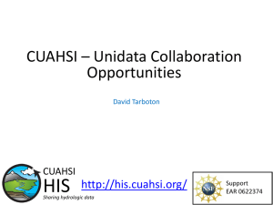 CUAHSI OnLine: Bringing Data and Modeling Services to