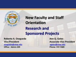 Office of Research & Sponsored Projects