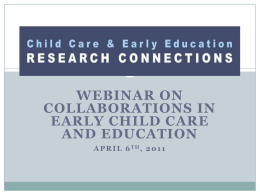 PPT Version - Child Care and Early Education Research Connections