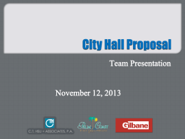 Item 1-CRA Loan Refinancing and City Hall Proposal