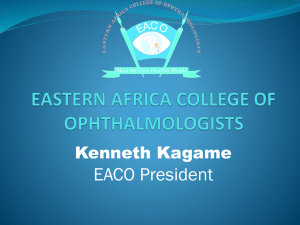 Prof Kenneth Kagame_Residency training A Case for East Africa