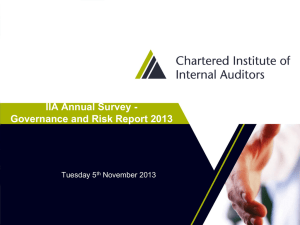 View the presentation slides - Chartered Institute of Internal Auditors