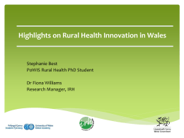 Rural Health Innovation Projects