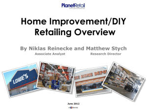 Home Improvement/DIY Retailing Overview By Niklas