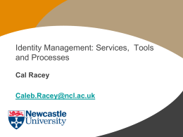 Services, Tools and Processes - Identity Management Matters ()