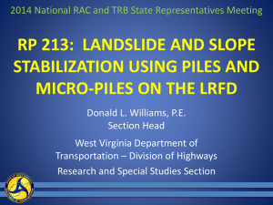 Landslide and Slope Stabilization Using Piles And Micro