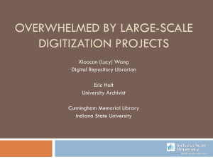Overwhelmed by Large-Scale Digitization Projects?