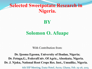 6. Sweetpotato Research in Nigeria-6th SSP Meeting, Accra, Ghana