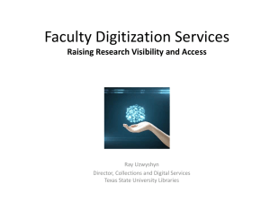 Faculty Digitization Services: Raising Visibility