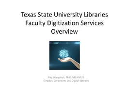 Faculty Digitization Services Presentation (PPT)