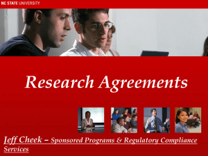 Research Agreements