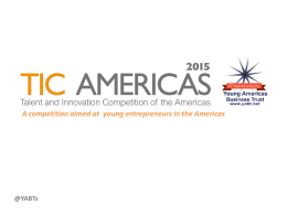 Power Point presentation TIC Americas 2015