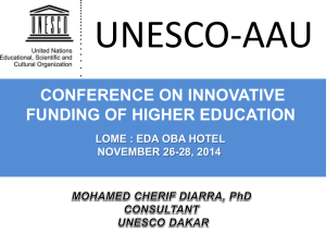 lome higher education funding - Association of African Universities