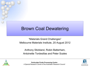 Brown Coal Dewatering - Melbourne Materials Institute