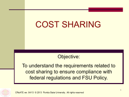 Cost Sharing - Office of Research