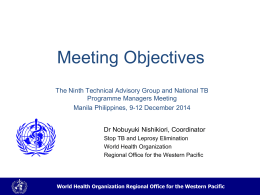 World Health Organization Regional Office for the Western Pacific