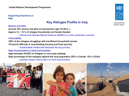 Key Refugee Profile in Iraq