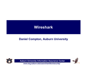 IAE Wireshark - Digital Forensics Home