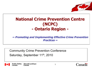 National Crime Prevention Centre