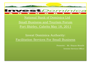 Invest Dominica - National Bank of Dominica