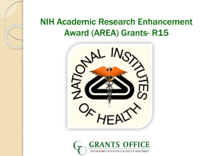 ( AREA ) Grants - Richard Stockton College of New Jersey