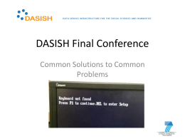 DASISH result overview at a glance by Hans Jørgen Marker