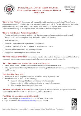 Public Health Laws in Indian Country
