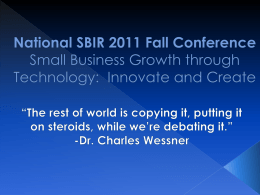 SBIR *Let*s Keep Moving* - Louisiana Technology Council