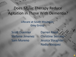 Does Music Therapy Reduce Agitation in Those With - Lifecare-grey