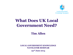 What does UK Local Government Need