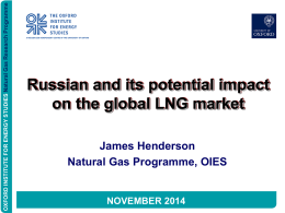 Russia and its Potential Impact on the GLobal LNG Market