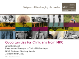 Opportunities for Clinicians