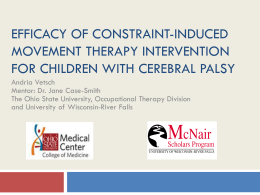 Efficacy of Constraint-Induced Movement Therapy