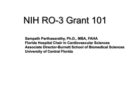 NIH R03 Grant 101 - University of Central Florida