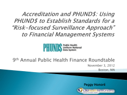 Using PHUND$ to Establish Standards for a