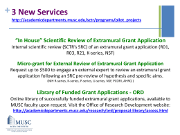 "+ ""In House"" Scientific Review of Extramural Grant Application"